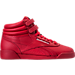 Right view of Girls' Grade School Reebok Freestyle Hi Casual Shoes in Excellent Red/Silver/Gold