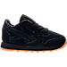 Right view of Boys' Toddler Reebok Classic Leather TDC Casual Shoes in Black/White