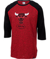 Men's Majestic Chicago Bulls NBA Judge Raglan Shirt