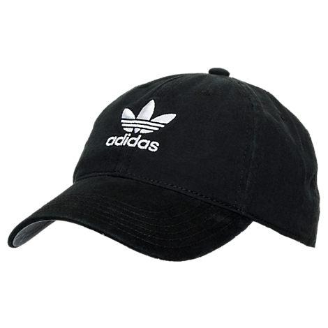 Men's adidas Originals Precurved Washed Strapback Hat