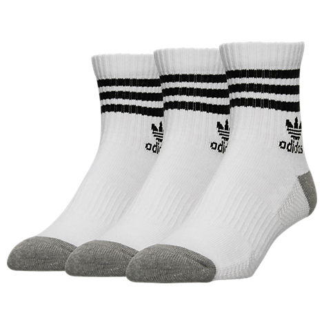 Men's adidas 3-Pack Roller High Quarter Socks