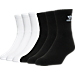 Front view of adidas Trefoil Cushioned Quarter-Length Socks - 6 Pack in Black/White