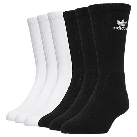 adidas Trefoil Cushioned Socks - 6 Pack