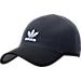 Front view of Men's adidas Originals Primeknit Strapback Hat in Black/Onyx