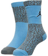 Kids' Jordan Elephant Print 2-Pack Crew Socks