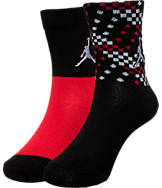 Kids' Jordan Spike 2-Pack Crew Socks