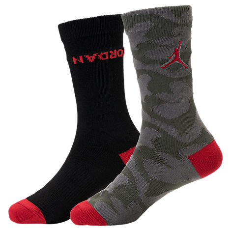 Kids' Jordan Camo Crew Socks - 2 Pack