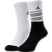 Front view of Kids' Jordan 23 Crew Socks - 2 Pack in White/Black