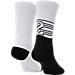 Back view of Kids' Jordan 23 Crew Socks - 2 Pack in White/Black