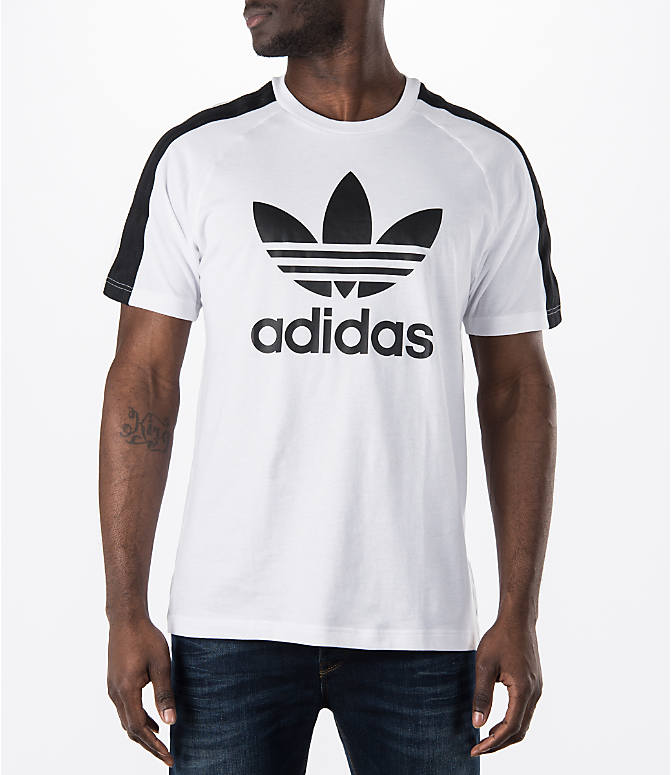 Front view of Men's adidas Originals Berlin T-Shirt in White