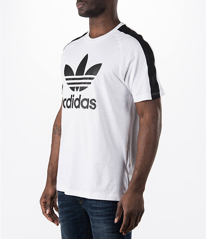 Front Three Quarter view of Men's adidas Originals Berlin T-Shirt in White