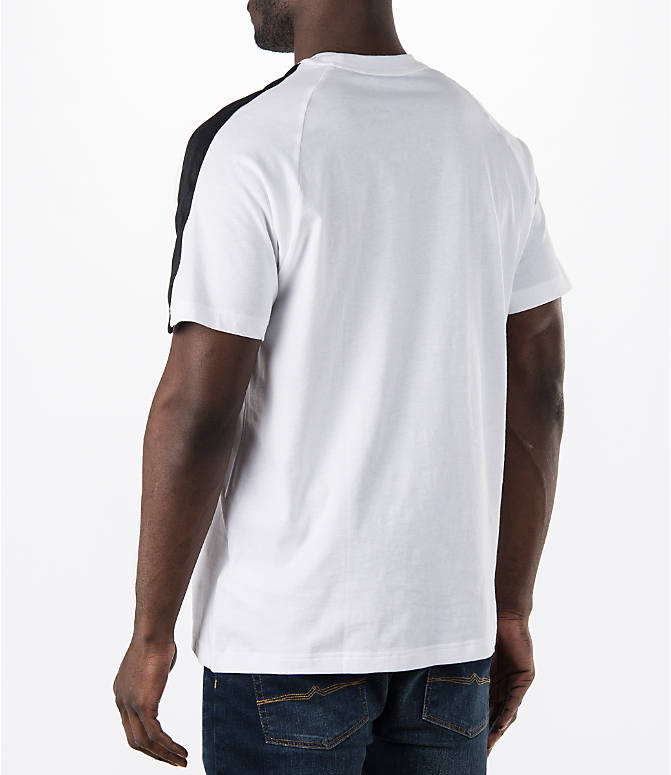 Back Left view of Men's adidas Originals Berlin T-Shirt in White