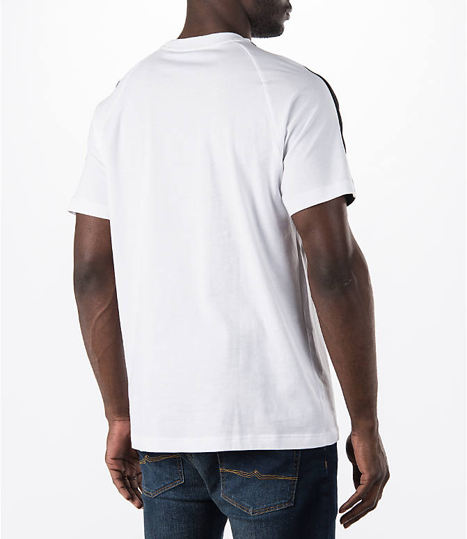 Back Right view of Men's adidas Originals Berlin T-Shirt in White