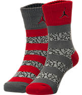 Kids' Nike Elephant Striped Crew Socks 2-Pack