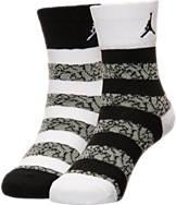 Kids' Nike Elephant Striped Crew Socks 2-Pack