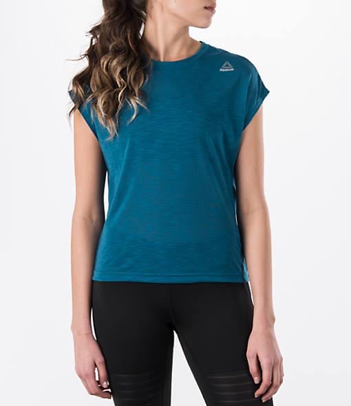Women's Reebok Marble Melange No Waste Training T-Shirt
