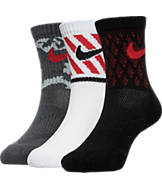 Kids' Nike Triple Fly 3-Pack Crew Socks