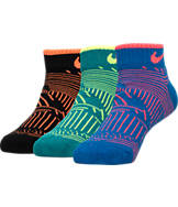 Boys' Nike Print 3-Pack No-Show Socks