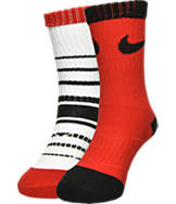 Kids' Nike Striped 2-Pack High Crew Socks