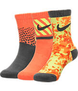 Kids' Nike Camo 3-Pack Crew Socks
