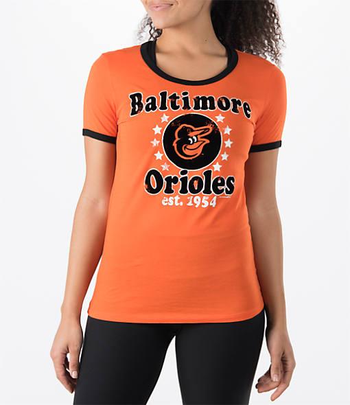 Women's New Era Baltimore Orioles MLB Vintage Ringer T-Shirt