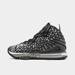나이키 맨 Mens Nike LeBron 17 Basketball Shoes,Black/Black/White