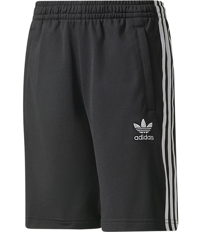 Front view of Boys' adidas Originals Superstar Shorts in Black/White