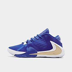 나이키 맨 Mens Nike Zoom Freak 1 Basketball Shoes,Hyper Royal/Metallic Gold/Blue Hero