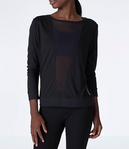 Women's Reebok Studio Mesh Long-Sleeve Training Shirt