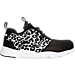 Right view of Girls' Preschool Reebok Furylite Running Shoes in Black/White