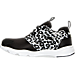 Left view of Girls' Preschool Reebok Furylite Running Shoes in Black/White