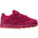 Right view of Girls' Toddler Reebok Club C Casual Shoes in Pink Craze/Manic Cherry/Gum