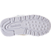 Bottom view of Girls' Toddler Reebok Classic Leather Casual Shoes in White/Iridescent
