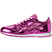 Left view of Girls' Grade School Reebok Classic Leather Metallic Casual Shoes in Charged Pink/White