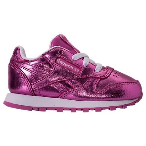 Girls' Toddler Reebok Classic Leather Metallic Casual Shoes