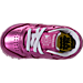 Top view of Girls' Toddler Reebok Classic Leather Metallic Casual Shoes in Charged Pink/White
