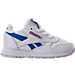 Right view of Boys' Toddler Reebok Classic Leather SO Casual Shoes in White/Vital Blue/Primal Red
