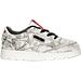 Right view of Boys' Toddler Reebok Club C Kendrick Casual Shoes in White/Coal/Scarlet