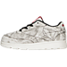 Left view of Boys' Toddler Reebok Club C Kendrick Casual Shoes in White/Coal/Scarlet