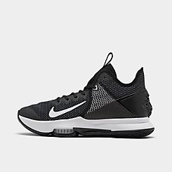 나이키 맨 Mens Nike LeBron Witness 4 Basketball Shoes,Black/White/Iron Grey/Pure Platinum