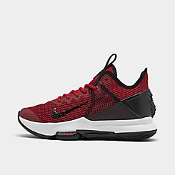 나이키 맨 Mens Nike LeBron Witness 4 Basketball Shoes,Black/Gym Red/University Red