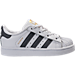 Right view of Kids' Toddler adidas Superstar Casual Shoes in White/Onyx/White