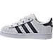Left view of Kids' Toddler adidas Superstar Casual Shoes in White/Onyx/White