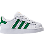 Kids' Toddler adidas Superstar Hook-and-Loop Closure Casual Shoes