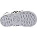 Bottom view of Girls' Toddler adidas Samoa Casual Shoes in White/Rainbow Snake