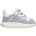 Right view of Girls' Toddler adidas Tubular Shadow Knit Casual Shoes in White/Core Black