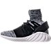 Left view of Men's adidas Tubular Doom Primeknit Casual Shoes in Core Black/Grey/Utility Black