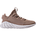Right view of Men's adidas Tubular Doom Sock Primeknit Casual Shoes in Sesame/Clear Brown/Crystal White