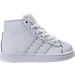 Right view of Boys' Toddler adidas Pro Model Casual Shoes in White/Silver