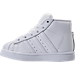 Left view of Boys' Toddler adidas Pro Model Casual Shoes in White/Silver